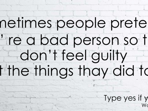 Sometime people pretend